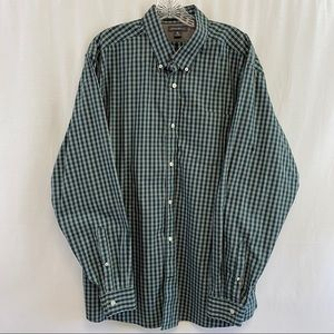 Eddie Bauer Green Checked Shirt (EUC) size XL